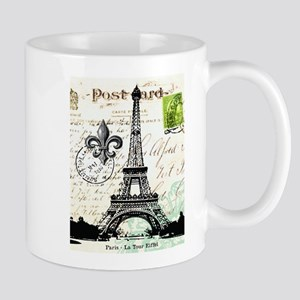 Vintage French Carte Postale Eiffel Tower Mug