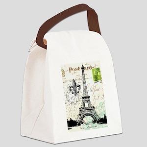 Vintage French Carte Postale Eiffel Tower Canvas L