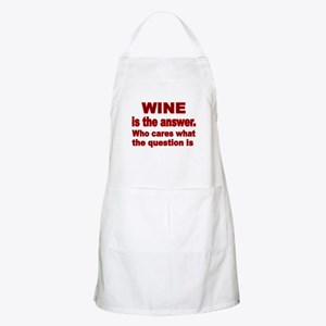 Wine is the Answer Apron