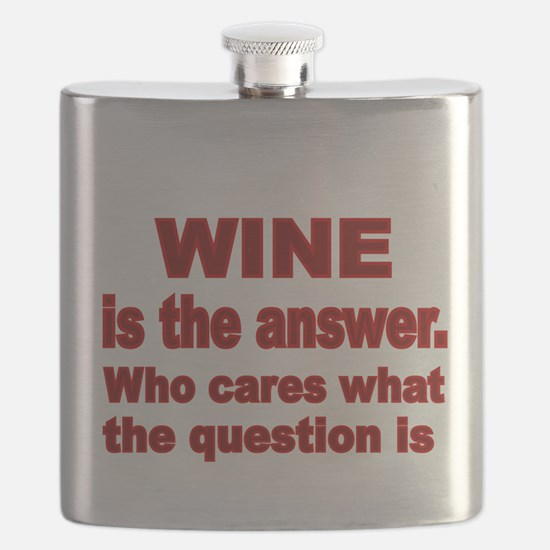 Wine is the Answer Flask