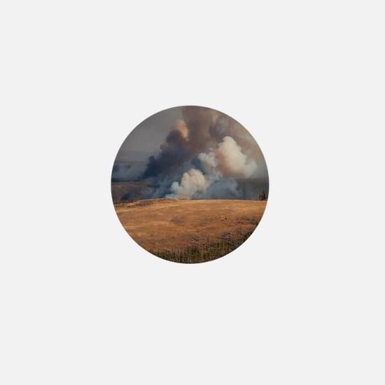 Fire in Yellowstone Mini Button