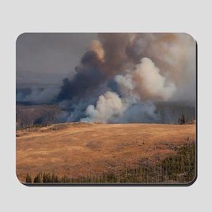 Fire in Yellowstone Mousepad
