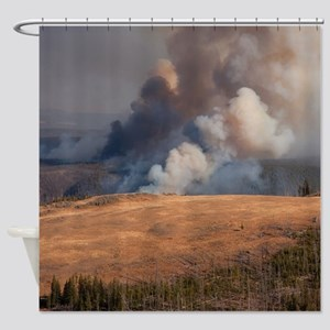 Fire in Yellowstone Shower Curtain
