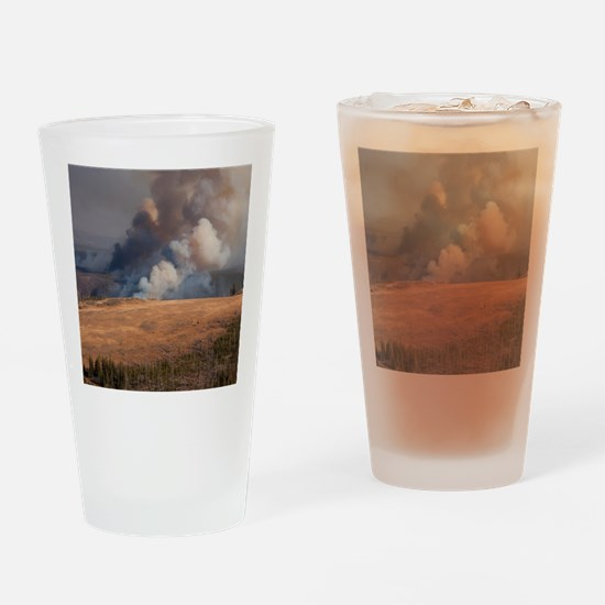 Fire in Yellowstone Drinking Glass