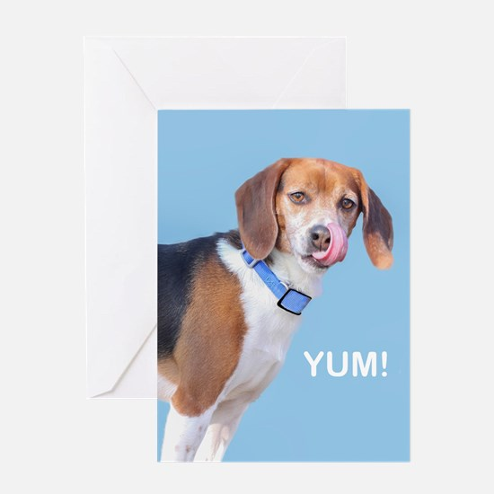 Beagle Yum Birthday Greeting Card