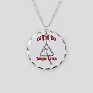 Drum Line - Marching Band Necklace Circle Charm