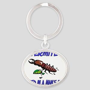 Termite7139 Oval Keychain