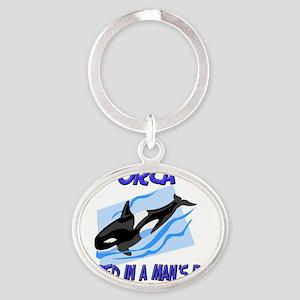Orca89145 Oval Keychain