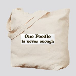 One Poodle Tote Bag