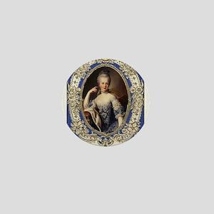 Marie Antoinette in vintage frame Mini Button