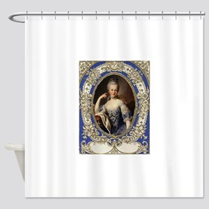 Marie Antoinette in vintage frame Shower Curtain