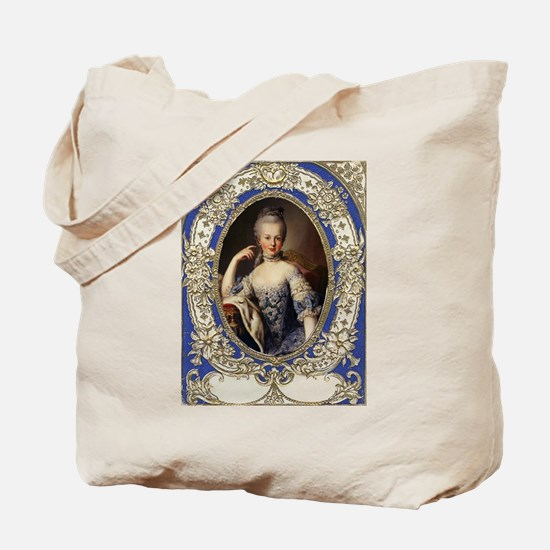 Marie Antoinette in vintage frame Tote Bag
