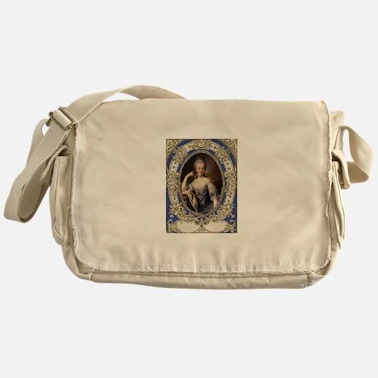 Marie Antoinette in vintage frame Messenger Bag