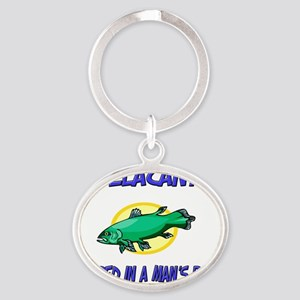 Coelacanth37321 Oval Keychain