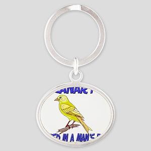 Canary34345 Oval Keychain