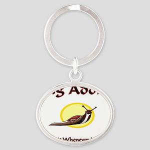 Slug13066 Oval Keychain