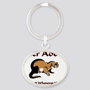 Otter69140 Oval Keychain