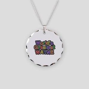 World's Greatest Wayne Necklace Circle Charm