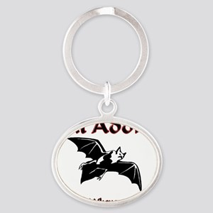 Bat108382 Oval Keychain