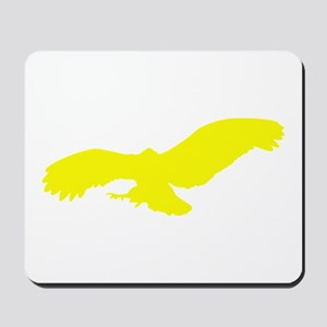Yellow Flying Eagle Silhouette Mousepad