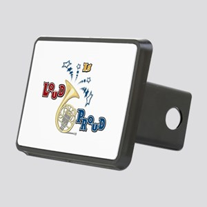 French Horn - Band Music Rectangular Hitch Cover