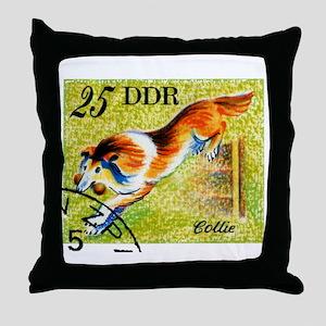 Vintage 1976 East Germany Collie Dog Stamp Throw P