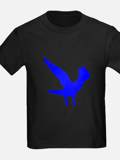 Blue Landing Eagle Silhouette T-Shirt