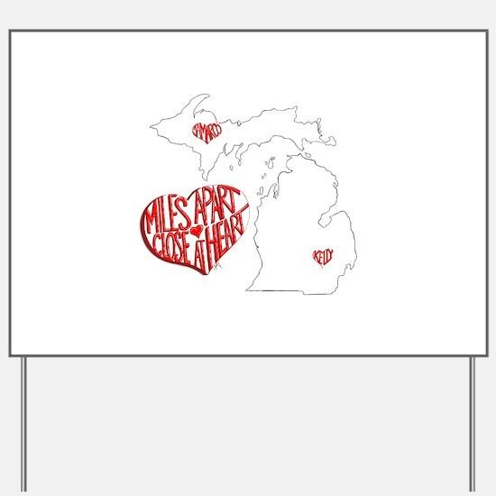 Michigan Hearts - Kelly JaMarco Yard Sign