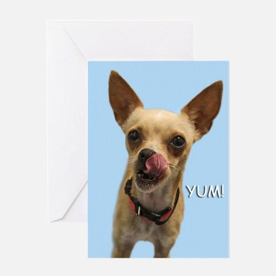 Chihuahua Yum Birthday Card