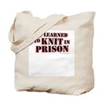 Prison Knitter Tote Bag