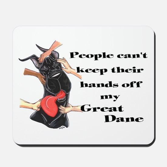 C Blk HandsOff GD Mousepad