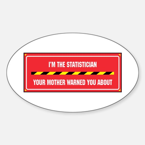I'm the Statistician Oval Decal