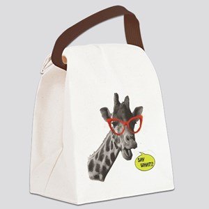 'SAY WHAT!?' Giraffe Canvas Lunch Bag