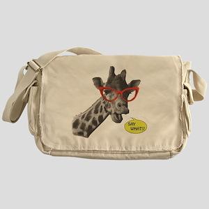 'SAY WHAT!?' Giraffe Messenger Bag