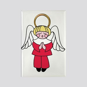 Blonde Boy Angel Rectangle Magnet
