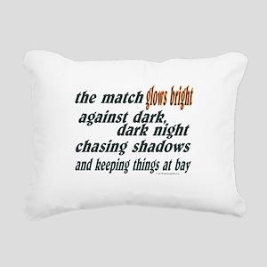 Verse: Match Glows Bright Rectangular Canvas Pillo