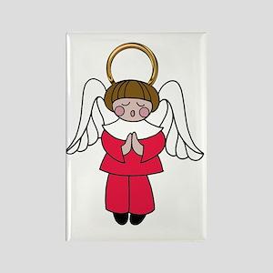 Dark Haired Boy Angel Rectangle Magnet
