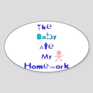 Baby did it Oval Sticker