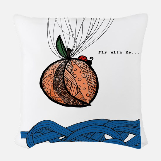 Fly With Me Woven Throw Pillow