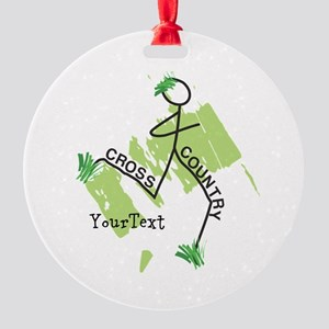 Customize Cute Cross Country Ornament