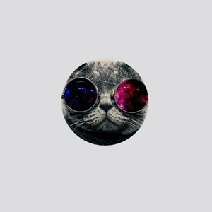 Cool Kitty Cat in Glasses Mini Button