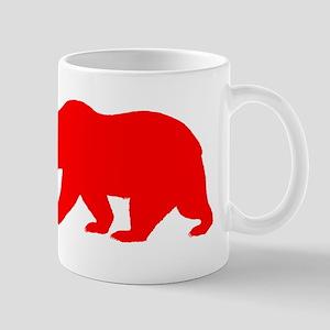 Red California Bear Small Mug