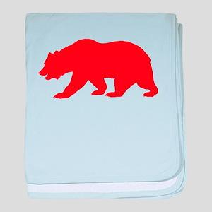 Red California Bear baby blanket
