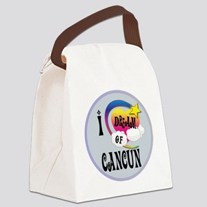 I Dream of Cancun Canvas Lunch Bag