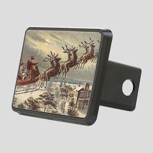 Vintage Christmas Santa Cl Rectangular Hitch Cover