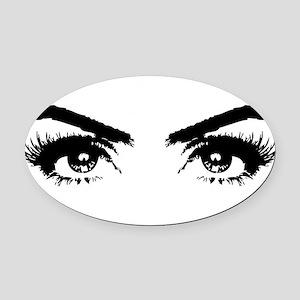 Eyes Oval Car Magnet