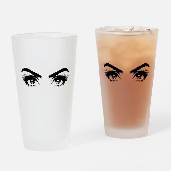 Eyes Drinking Glass
