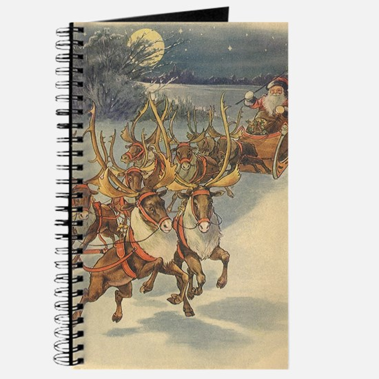Vintage Christmas Santa Claus Journal