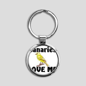 Canaries91349 Round Keychain