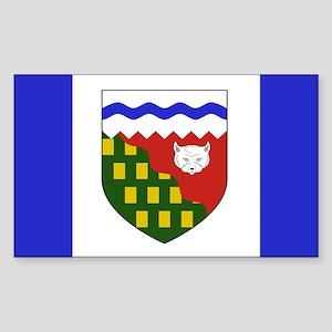 Northwest Territories Flag Sticker (Rect
